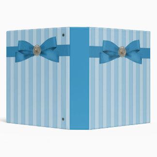 Baby Blue Stripes Elegance Notes 3 Ring Binder