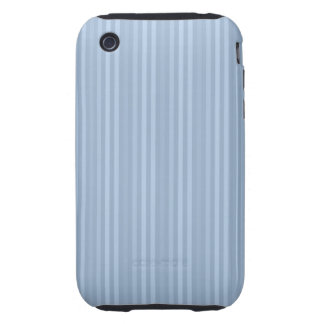 Baby Blue Stripes Pattern Vertical Stripes iPhone 3 Tough Cover