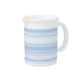 Baby blue stripes pitcher