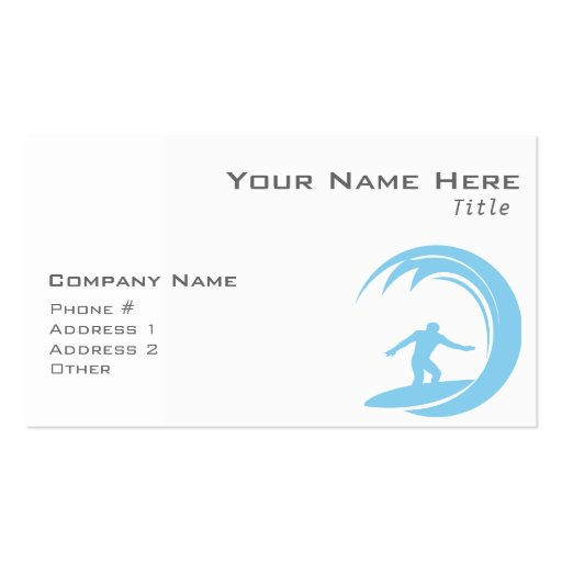 Baby Blue Surfing Business Cards