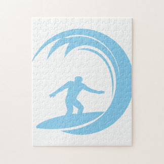 Baby Blue Surfing Jigsaw Puzzle
