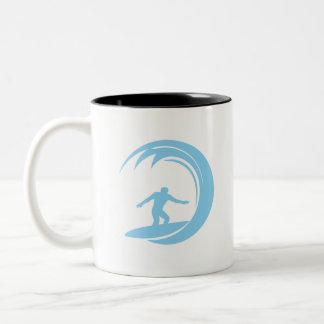 Baby Blue Surfing Mugs