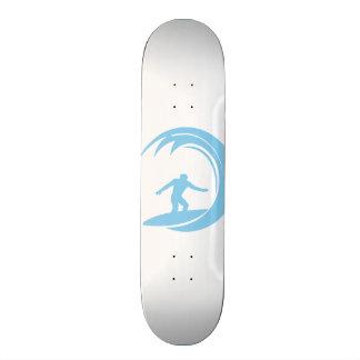 Baby Blue Surfing Skateboard