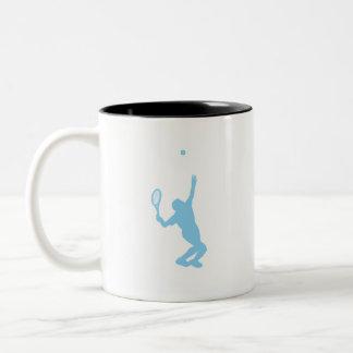 Baby Blue Tennis Two-Tone Coffee Mug
