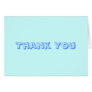 Baby Blue Thank You Card