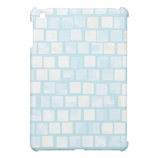 Baby Blue Tiled Block Mosaic Pern Cover For The iPad Mini