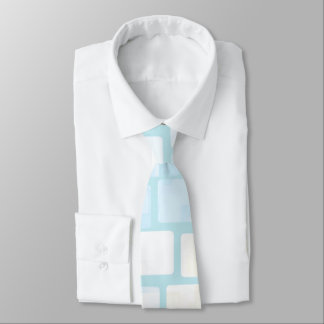 Baby Blue Tiled Mosaic Tie