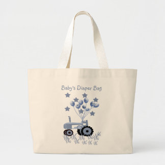 Baby Blue Tractor with Balloons Bag