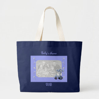 Baby Blue Tractor with Balloons Photo Bag