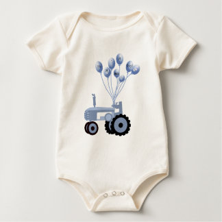 Baby Blue Tractor with Balloons T-Shirt