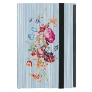 Baby Blue Vintage Floral Rose Covers For iPad Mini