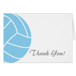 Baby Blue Volleyball Card