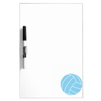 Baby Blue Volleyball Dry Erase Board