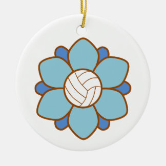 Baby Blue Volleyball Girl Ornament