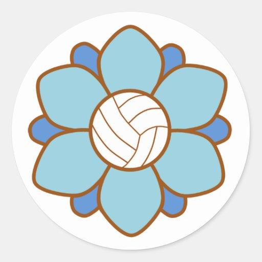 Baby Blue Volleyball Girl Sticker