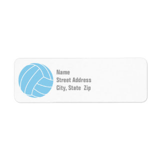 Baby Blue Volleyball Label