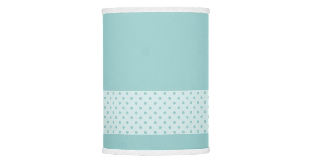 Baby Blue W Pastel Band Polka Dots Nursery Lamp Shade Zazzle
