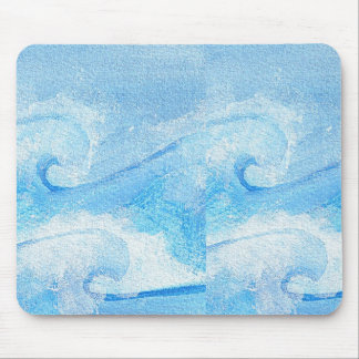 Baby Blue Waves Mouse Pad