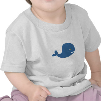 Baby Blue Whale T Shirts