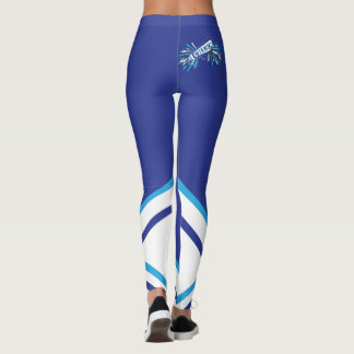 Baby Blue, White and Blue Cheerleader Megaphone Leggings