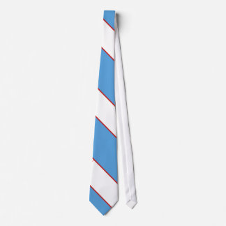 Baby Blue White and Red Tie