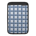 Baby Blue White Damask Floral Deco Art Pattern MacBook Sleeves