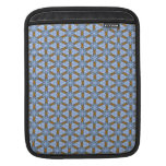 Baby Blue White Damask Floral Snowflake Deco Art Sleeves For iPads
