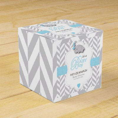 Lovely Custom Nautical Navy Blue Gold Baby Shower Favor Box | Zazzle.com