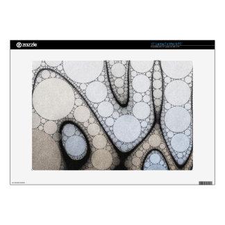 Baby Blue White Grey Circle Pattern Laptop Decals