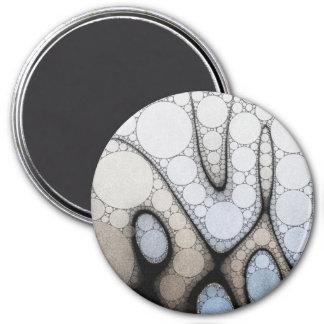 Baby Blue White Grey Circle Pattern Magnet