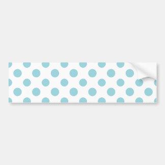 Baby Blue White Polka Dots Pattern Bumper Sticker