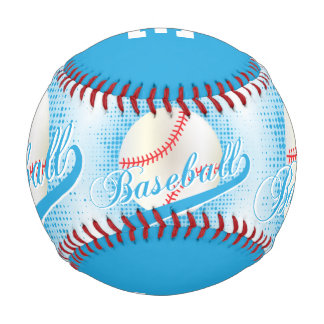 Baby Blue | White Retro Baseball Sports