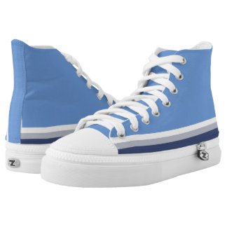 Baby Blue with White Gray and Navy Trim Hi-Top