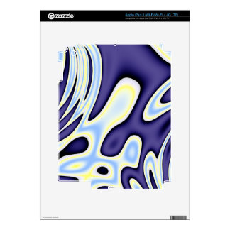 Baby Blue Yellow Abstract Decal For iPad 3
