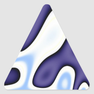 Baby Blue Yellow Abstract Triangle Sticker