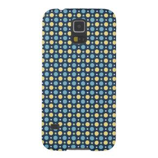 Baby Blue Yellow Polka Dots Pattern Galaxy S5 Case
