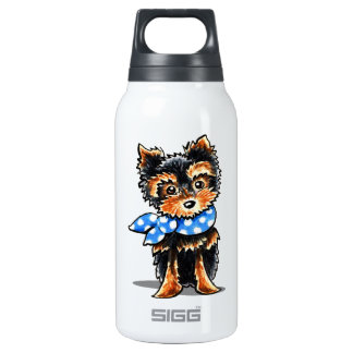 Baby Blue Yorkie Insulated Water Bottle