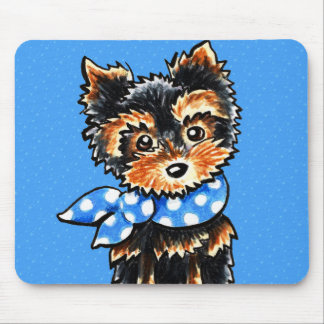 Baby Blue Yorkie Mouse Pad
