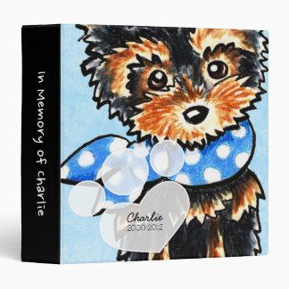Baby Blue Yorkie Pet Name Keepsake Album Binder