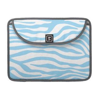 Baby Blue Zebra Animal Print Sleeve For MacBook Pro
