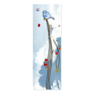 Baby Bluebird  Bookmark Double-Sided Mini Business Cards (Pack Of 20)