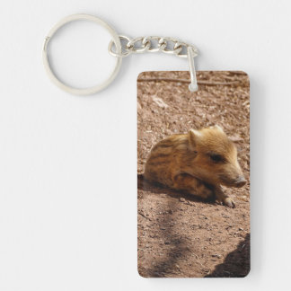 baby boar Single-Sided rectangular acrylic keychain