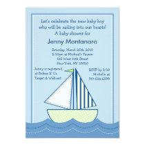 Baby Boats Sailboats Baby Shower Invitations