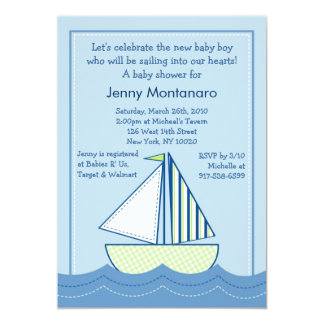 Baby Boats Sailboats Baby Shower Invitations