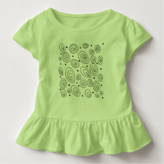 Baby body : Green with circles Toddler T-shirt