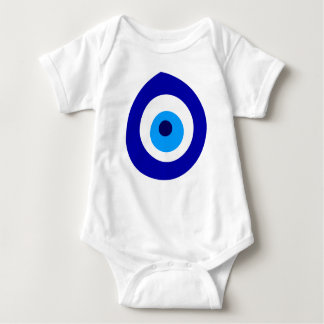 Baby Body with blue Nazar! Baby Bodysuit