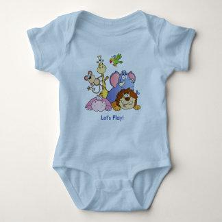 Baby Bodysuit--Jungle Animals T-shirt