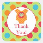 Baby Bodysuit Owl Baby Shower Sticker