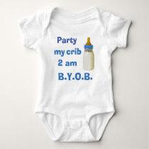 Baby Bodysuit - Party my crib 2 am - BYOB