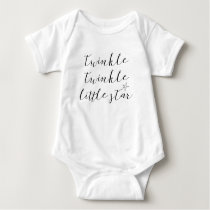 baby bodysuit quote twinkle twinkle little star